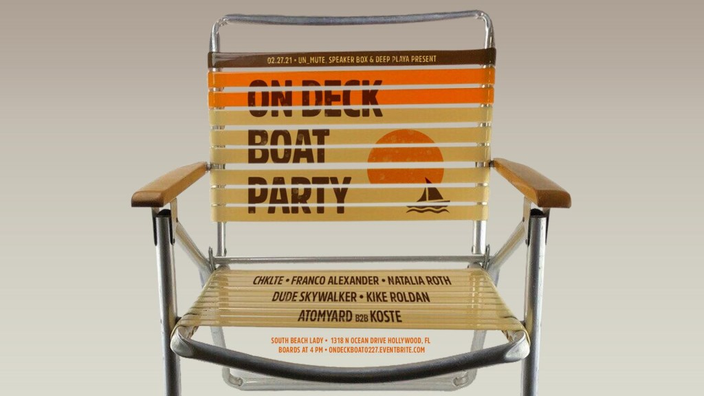 On Deck Boat Party with CHKLTE - Flyer front