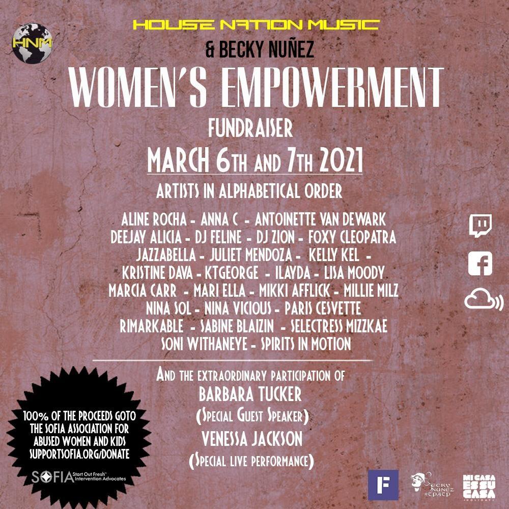 Women'S Empowerment 21 •FUNDRAISER• - Flyer front
