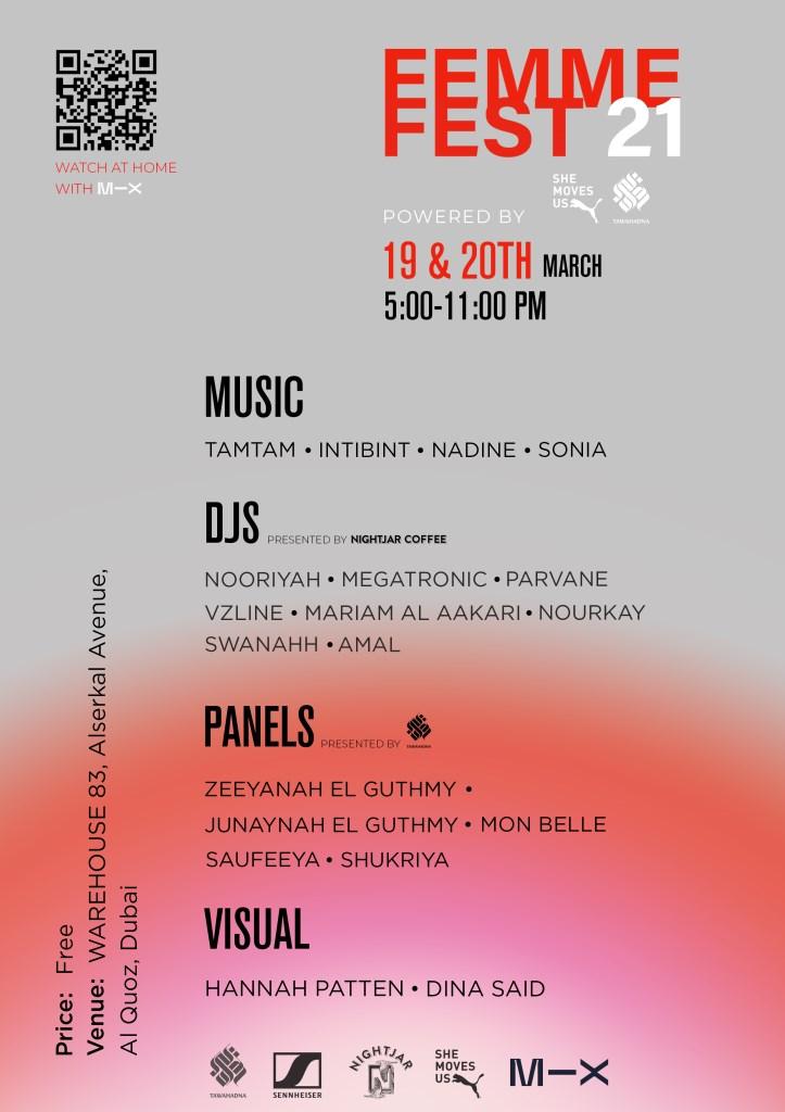 Femme Fest21 - Flyer front