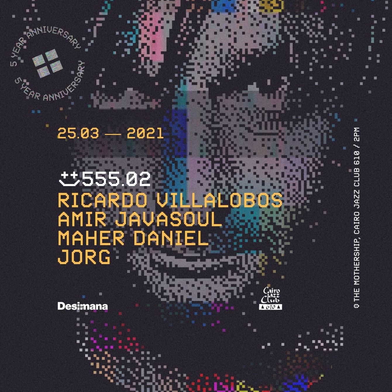 555.02 with Ricardo Villalobos & Guests - Flyer back