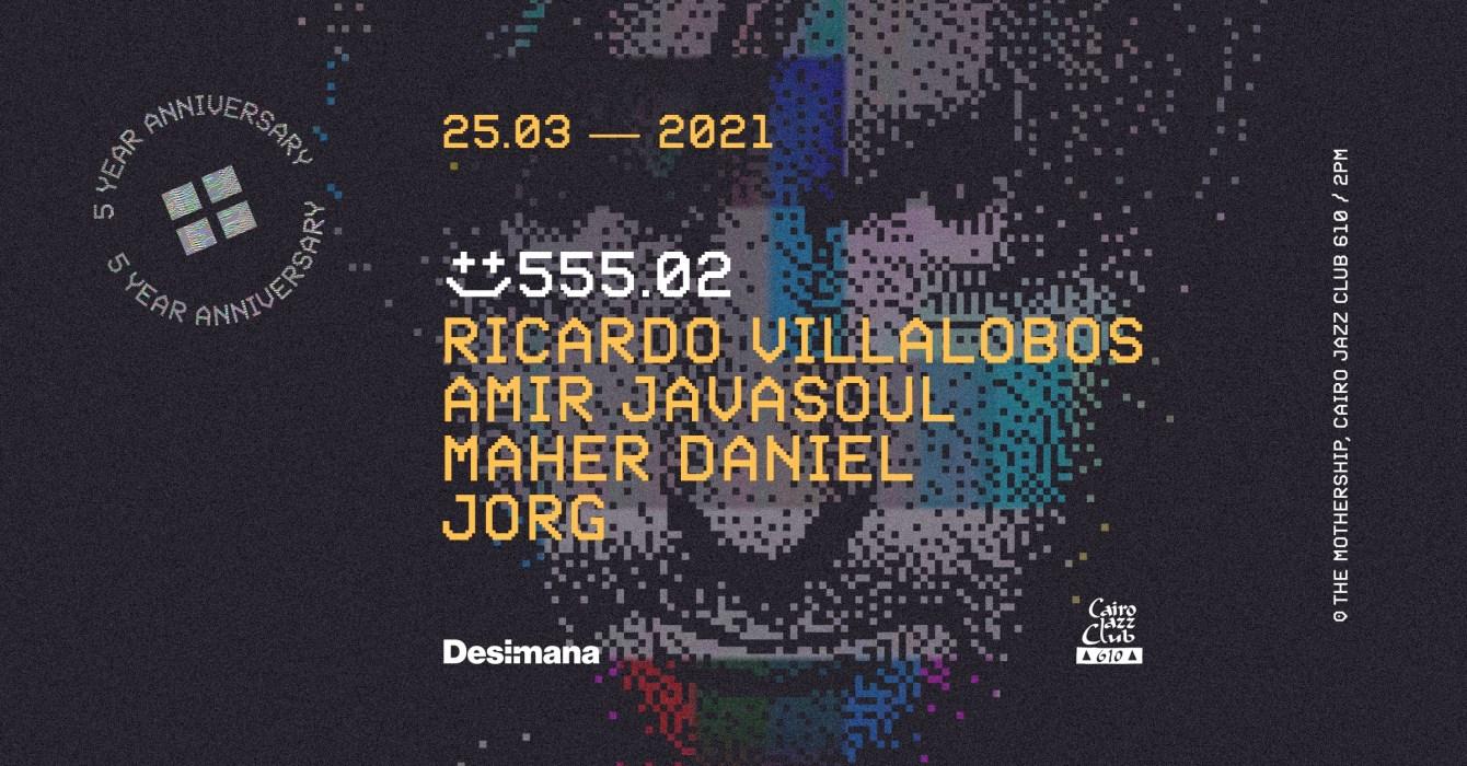 555.02 with Ricardo Villalobos & Guests - Flyer front