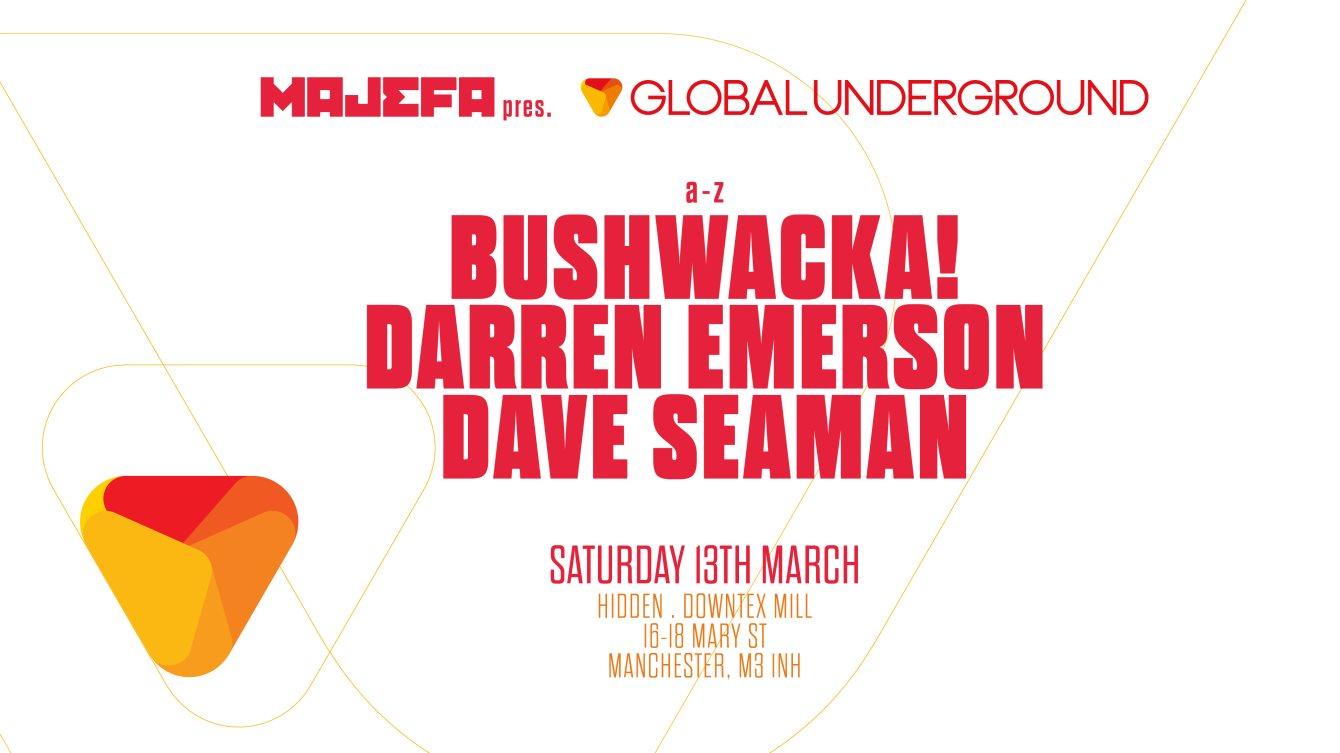 Global Underground Manchester - Flyer front