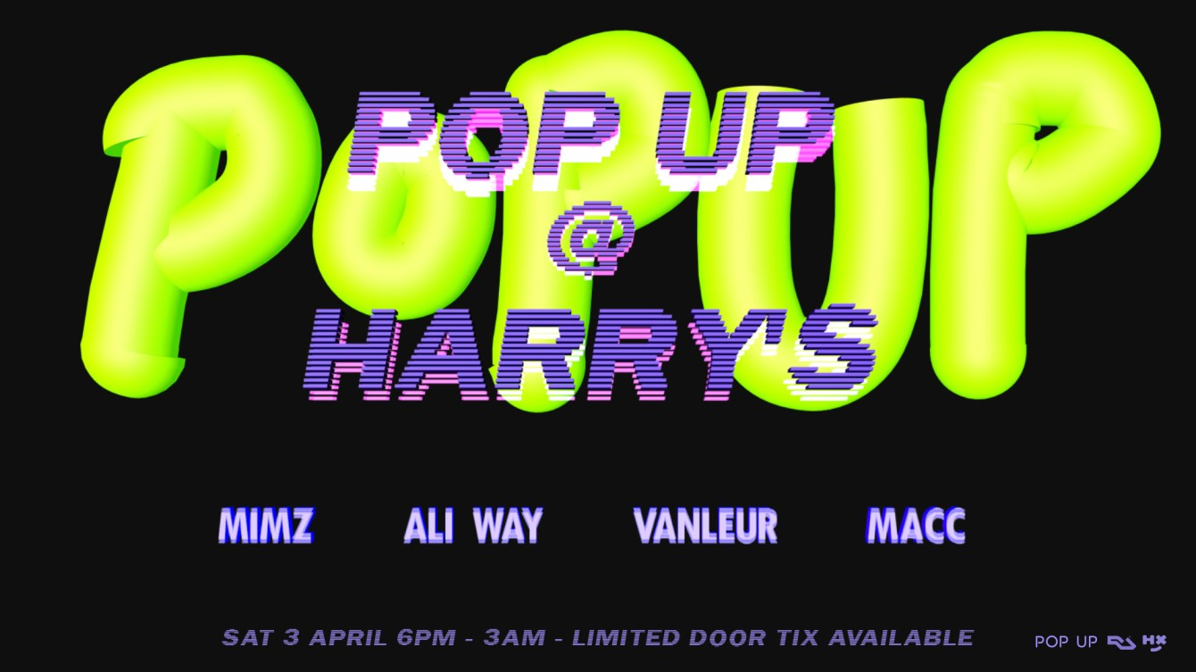 POP UP at Harry's - Flyer front