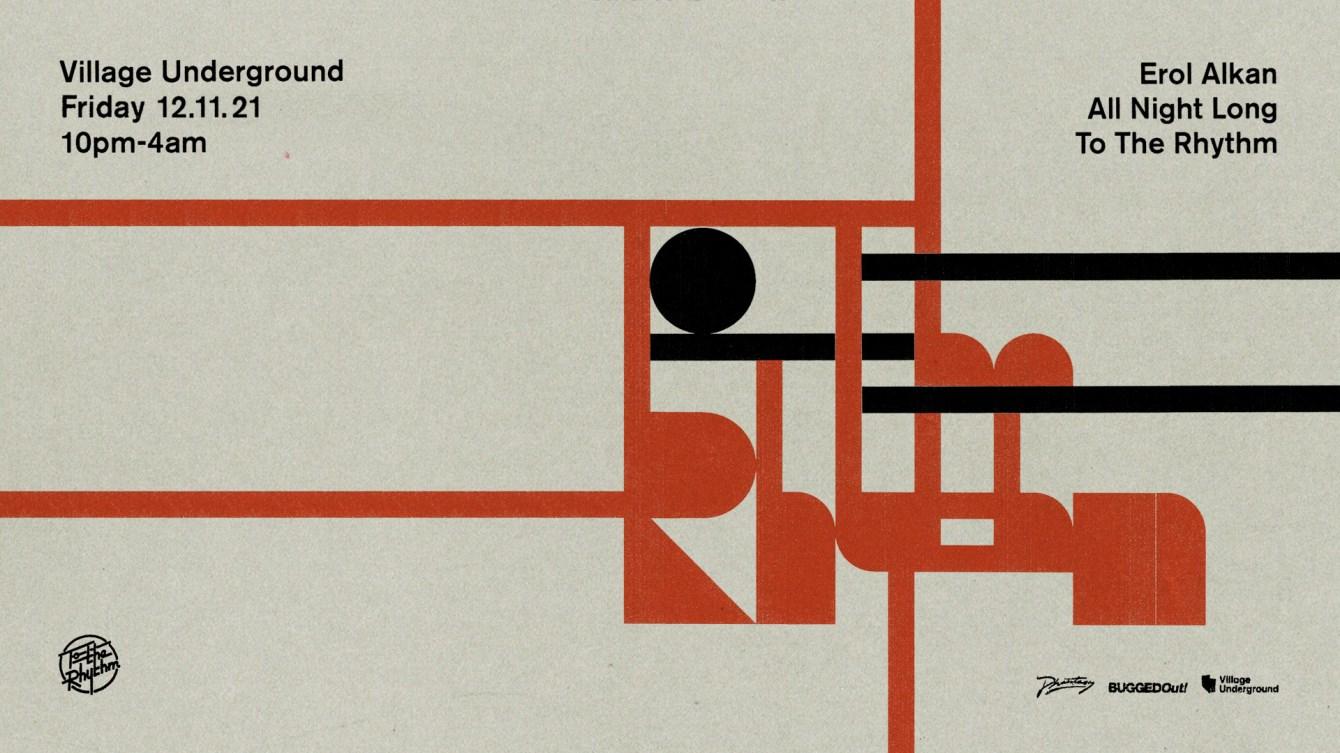 Erol Alkan - To The Rhythm - Flyer front