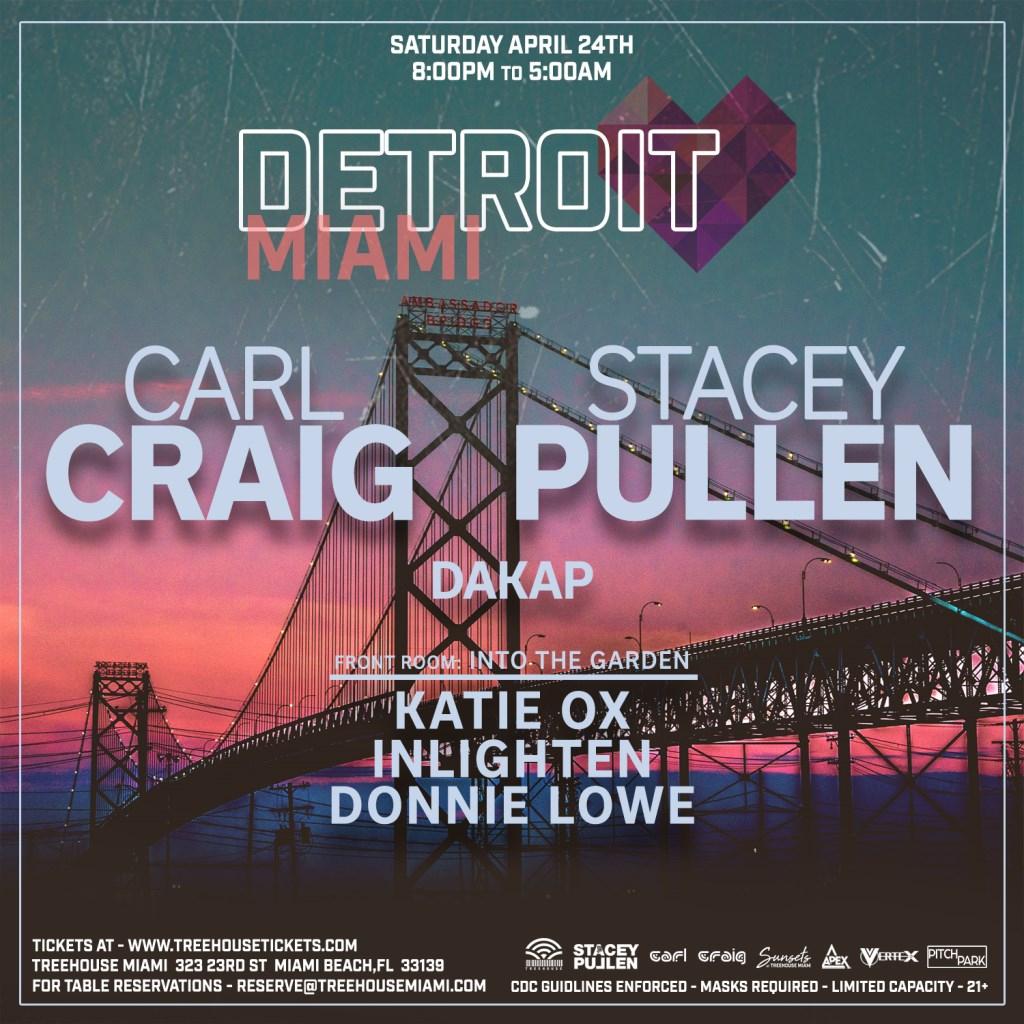 Detroit Love presents Carl Craig & Stacey Pullen - Flyer front
