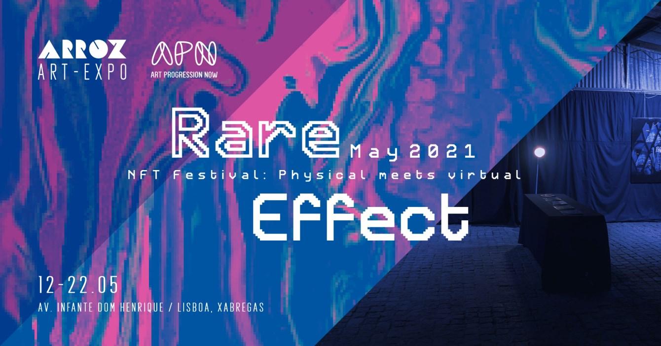 Rare Effect Vol2: an NFT Festival - Flyer front