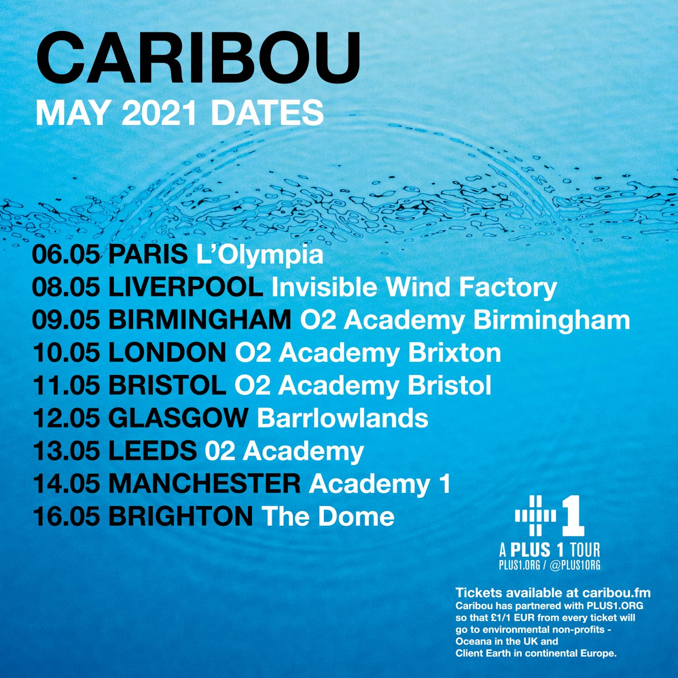 Warehouse Project Presents Caribou - Live - Flyer front