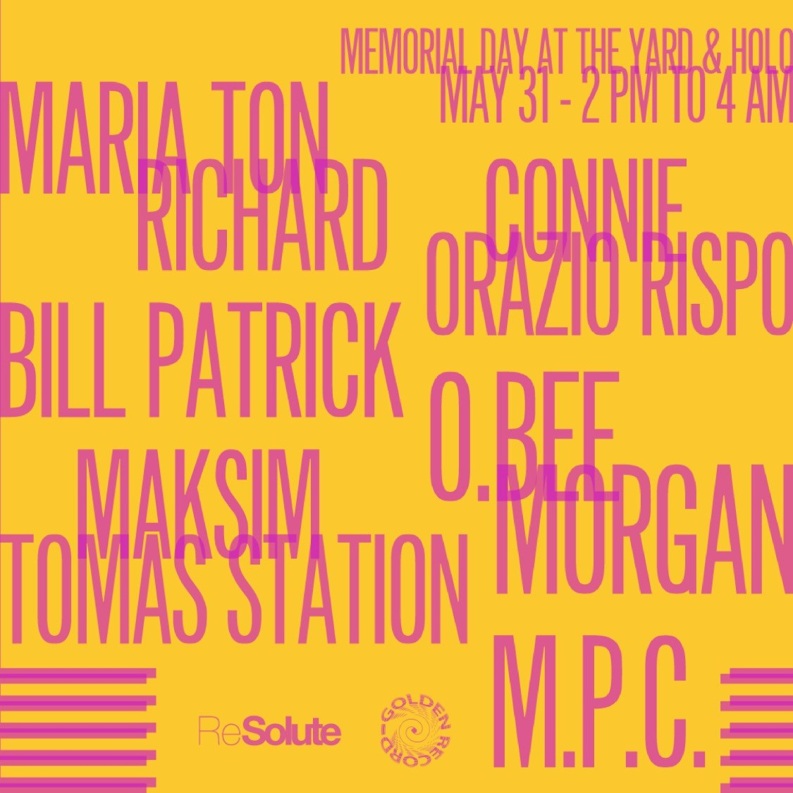 ReSolute x Golden Record present Memorial Day - Flyer front