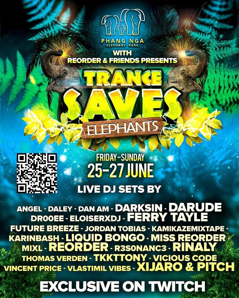 Trance Saves Elephants - Flyer front