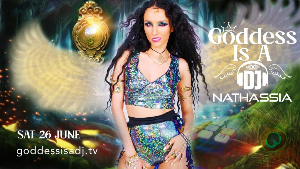 Goddess Is A DJ Show - Flyer front