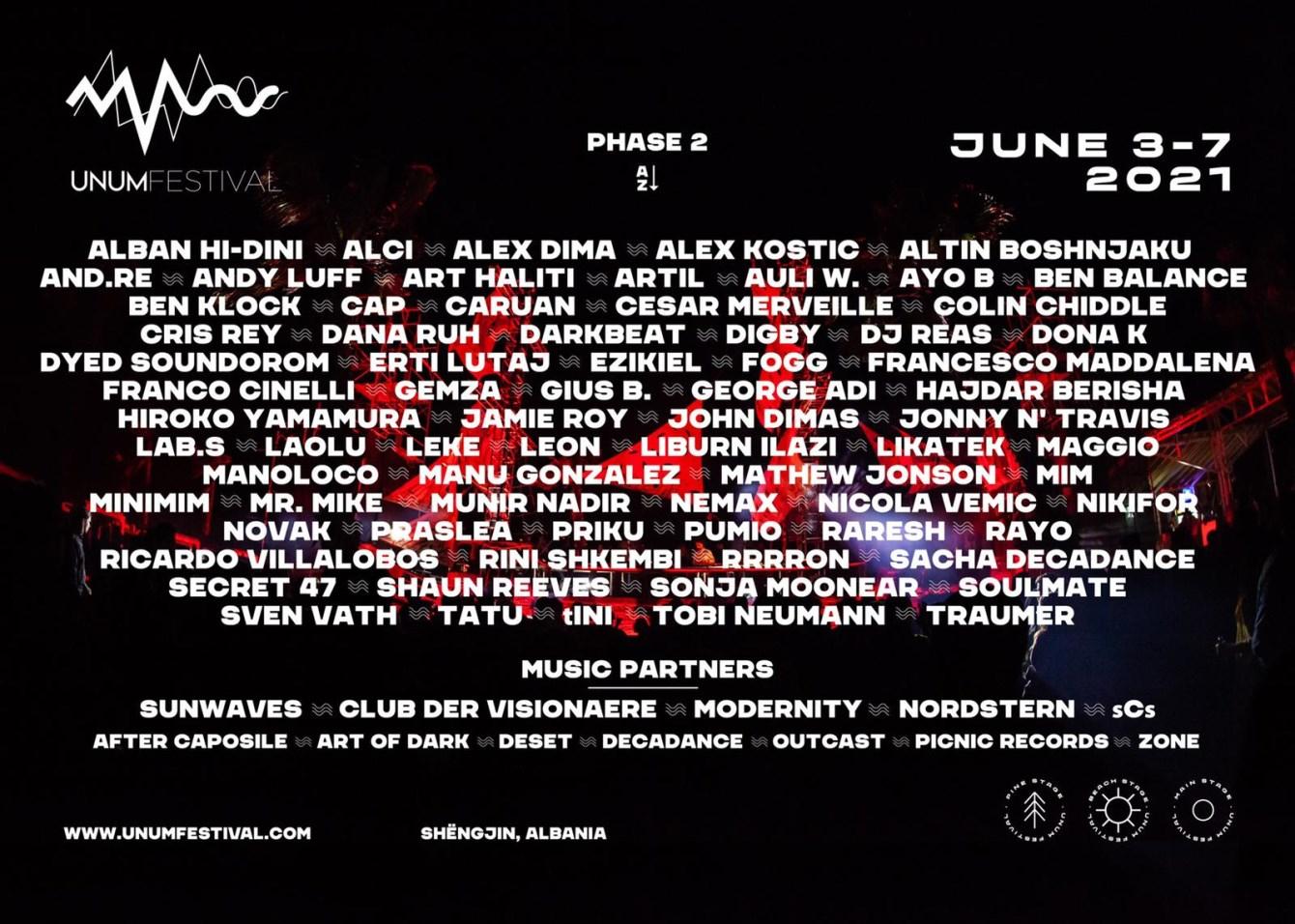 Unum Festival 2021 - Flyer front