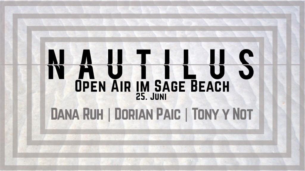 Nautilus Open Air im Sage Beach - Flyer front