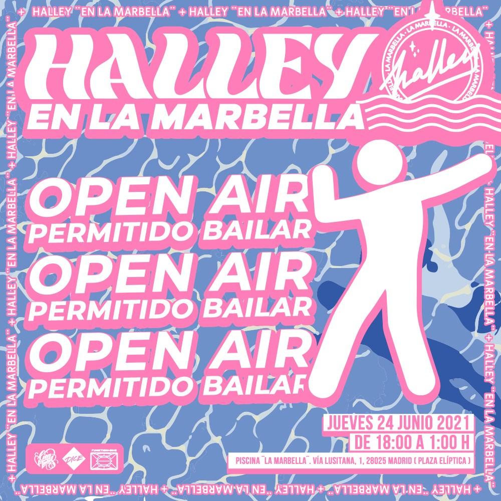 [CANCELLED] Halley at 'LA Marbella' W/ Simon Garcia Alvaro Cabana Two EX David Ponziano - Flyer back