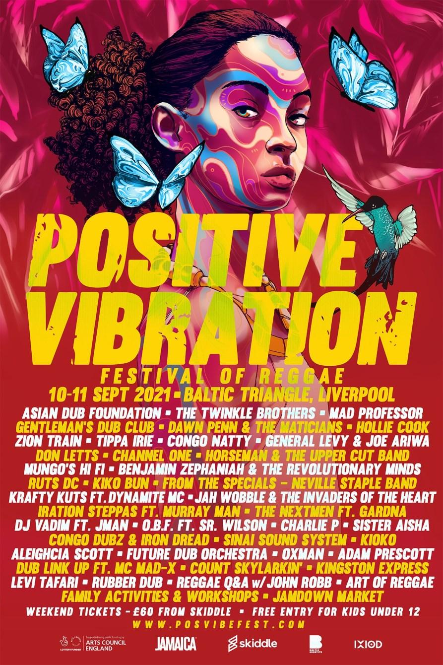 Positive Vibration - Festival of Reggae 2021 - Flyer front