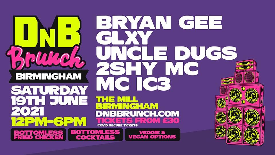 dnb brunch - Birmingham - Flyer front