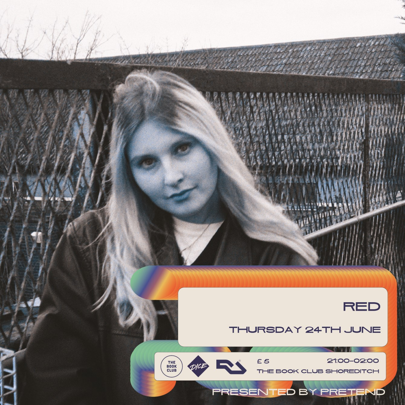 Pretend with Never Heard of Ya & RED - Flyer back