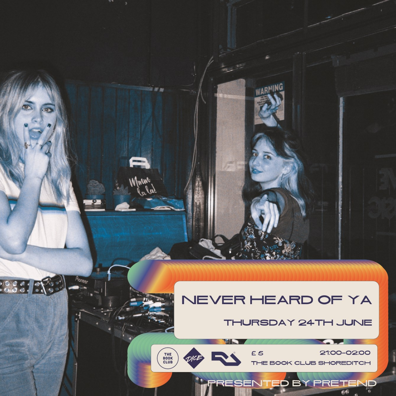 Pretend with Never Heard of Ya & RED - Flyer front