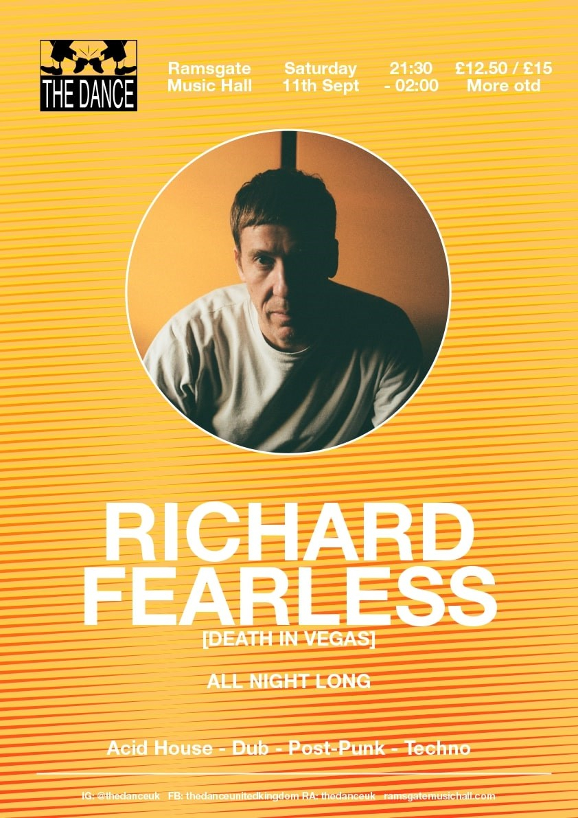 The Dance with Richard Fearless All Night Long - Flyer front