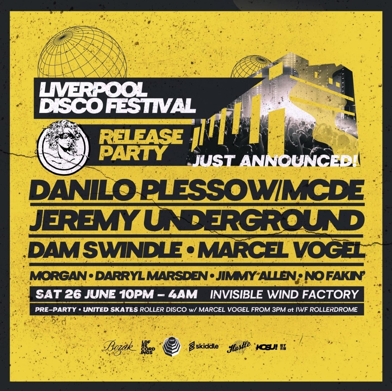 Liverpool Disco Festival Release Party with Jeremy Underground, Dam Swindle & More - Flyer front