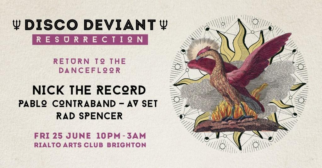Disco Deviant: Resurrection - Flyer front