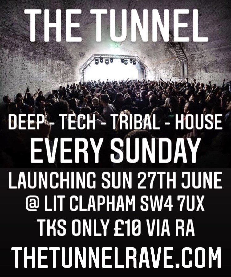 The Tunnel Day Party ( Every Sunday ) - Flyer front