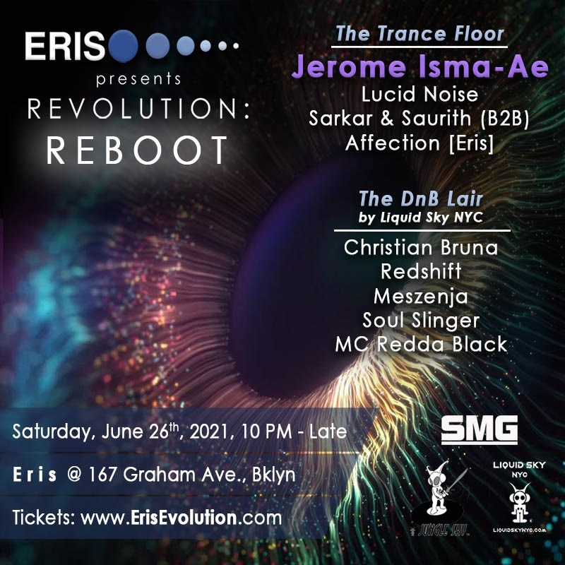Revolution: Reboot feat. Jerome Isma-Ae [Trance DnB] - Flyer front