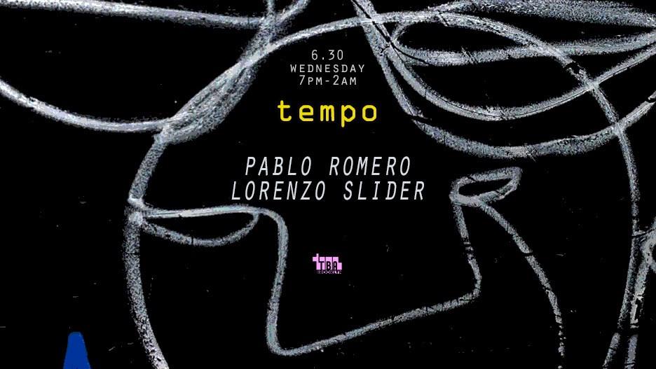 Tempo: Pablo Romero, Lorenzo Slider - Flyer front