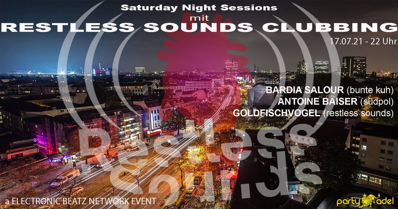 Restless Sounds Clubbing - Flyer front