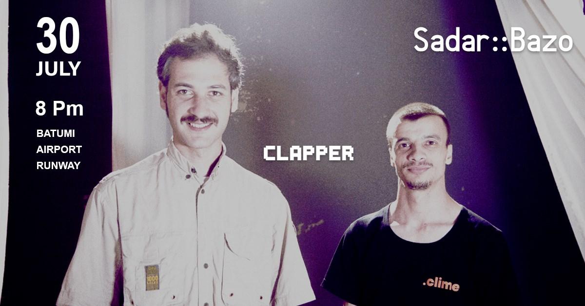 Clapper 9th Live Stream • Sadar:Bazo - Flyer front