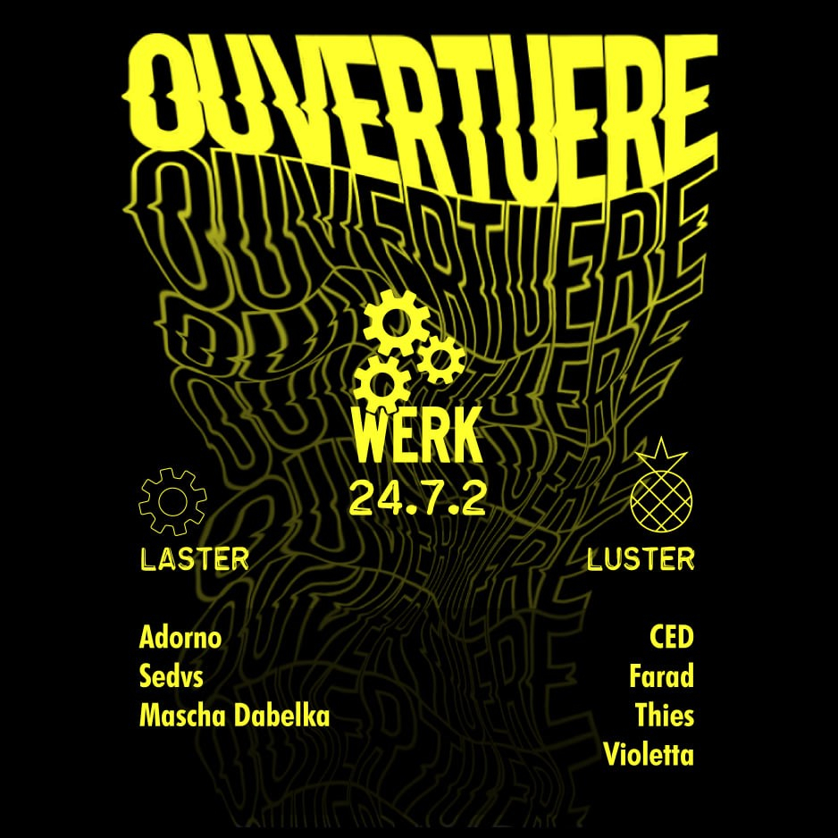Ouvertuere X Ananas - Flyer front