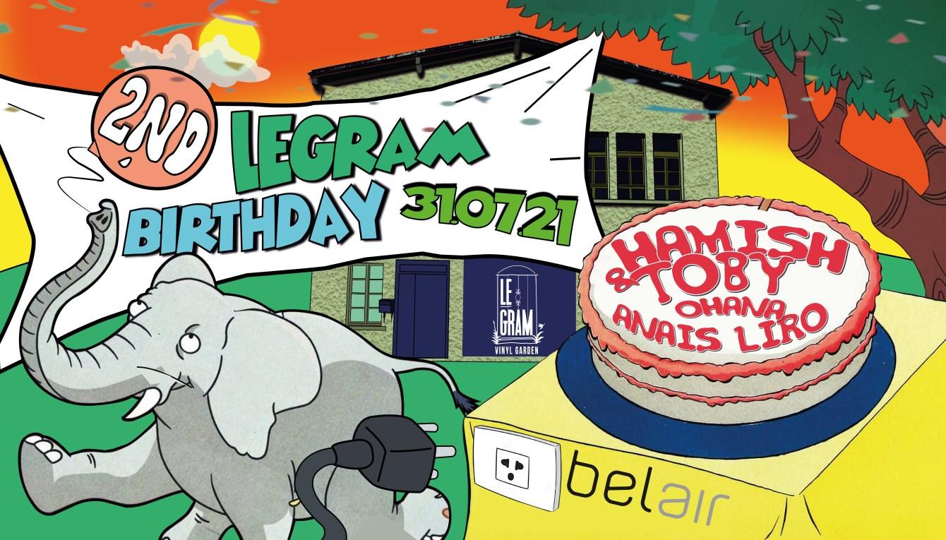 LEGRAM 2nd Birthday 31.07.21 - Flyer front