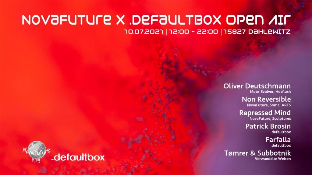 Novafuture x .defaultbox Open Air - Flyer front