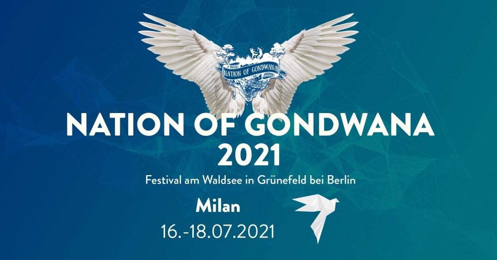 Nation of Gondwana - Milan - Festival 2021 - Flyer front