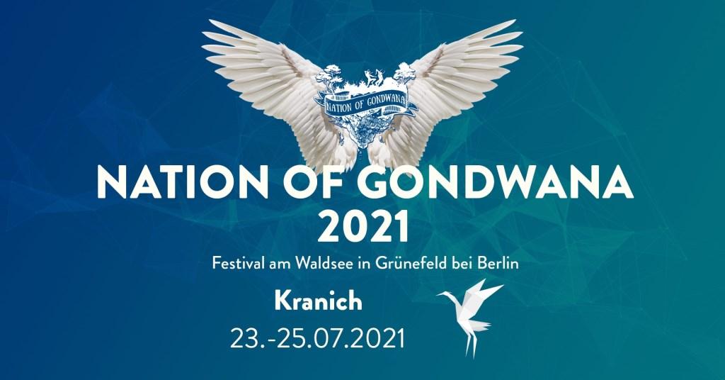 Nation of Gondwana - Kranich - Festival 2021 - Flyer front