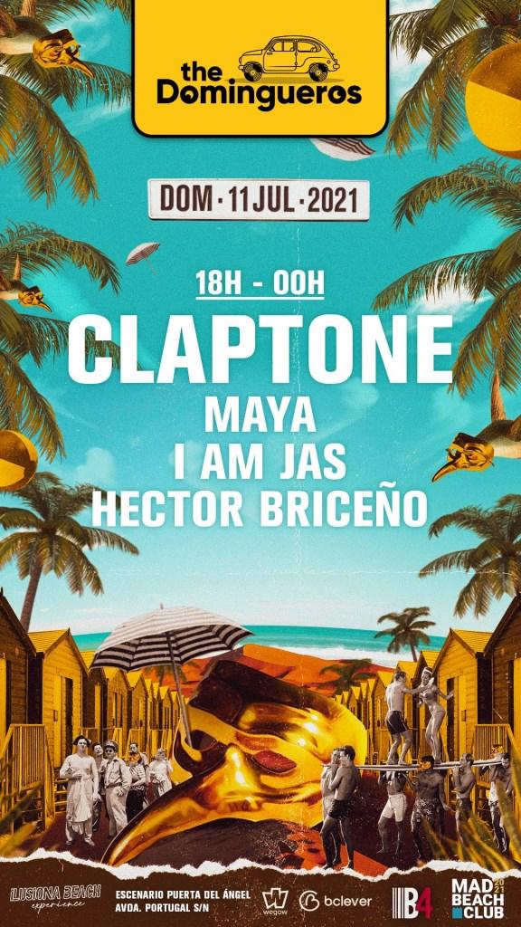 The Domingueros: Claptone - Flyer back