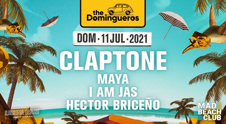 The Domingueros: Claptone - Flyer front