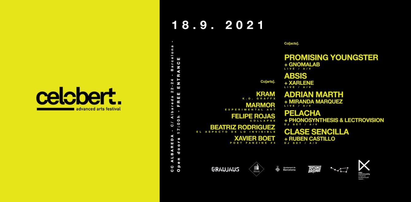 Celobert Festival Advanced Arts 2021 - Flyer front