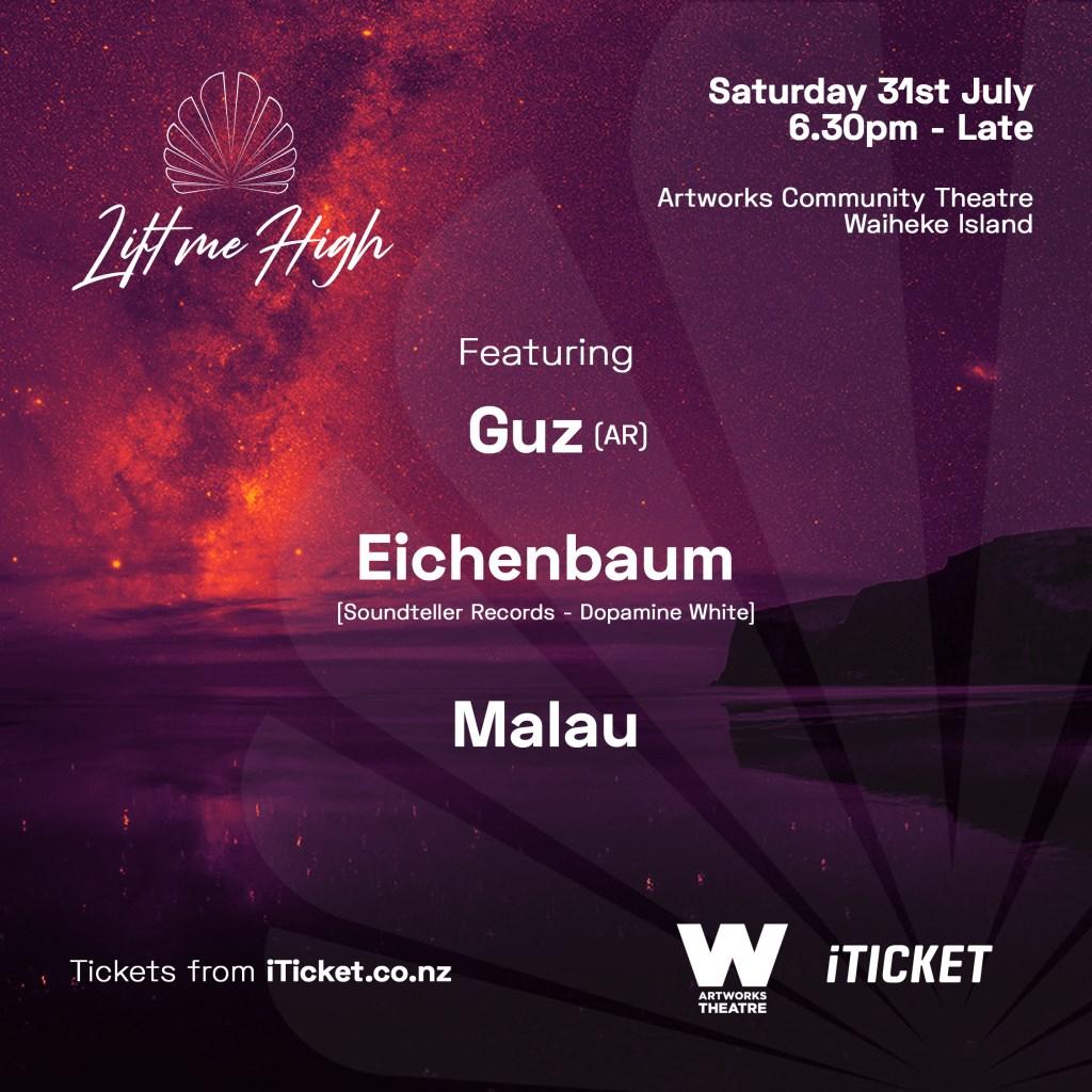 Lift Me High @Artworks Theatre, Waiheke Island - Flyer front