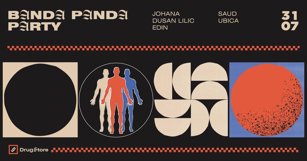 Banda Panda Party with Johana, Lilic, EDIN, SAUD & Ubica - Flyer front