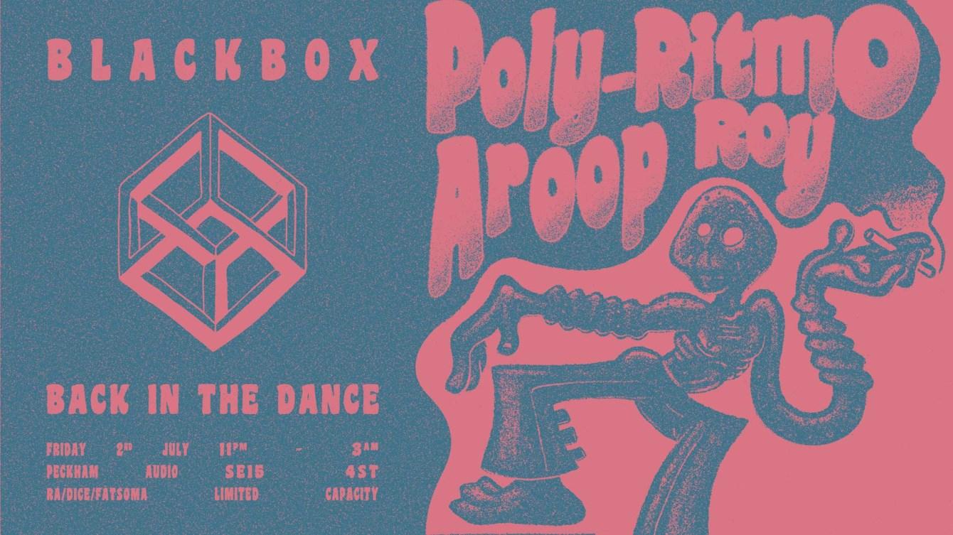 Blackbox Back in the Dance: Poly-Ritmo & Aroop Roy - Flyer front