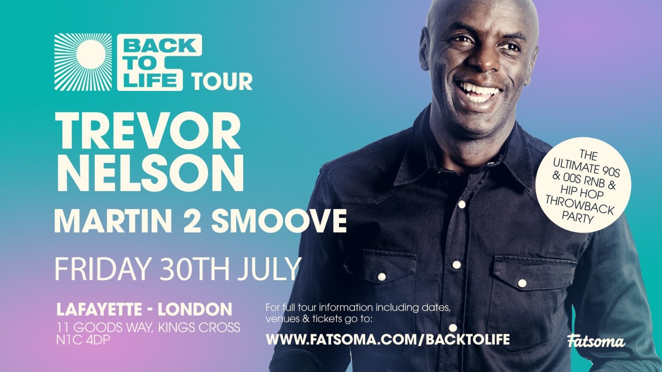Trevor Nelson's Return to the Club - Flyer front