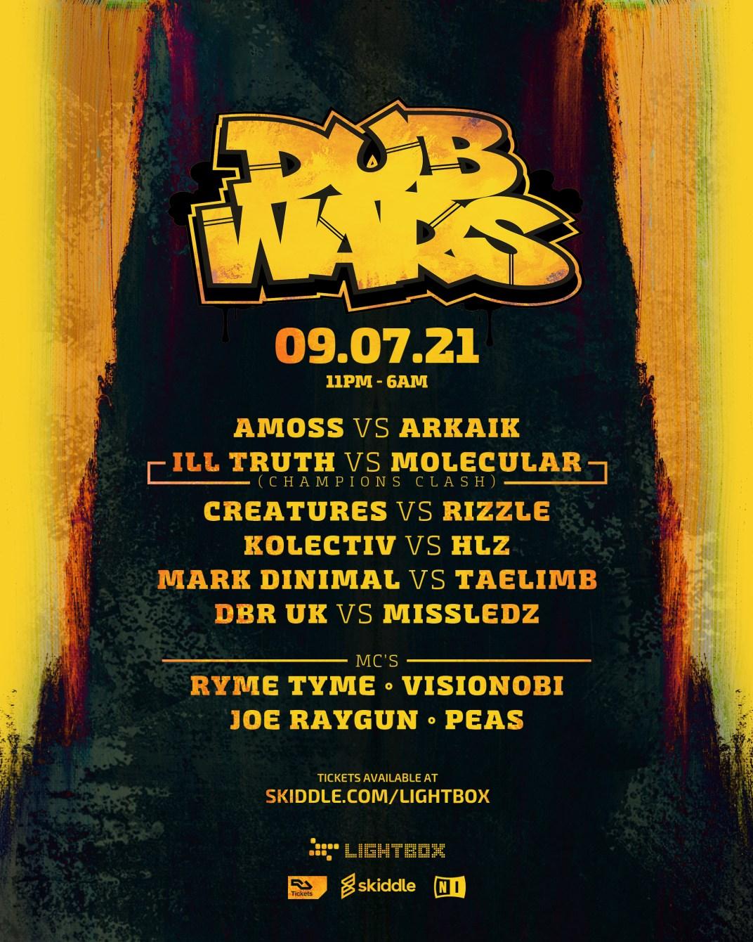 Rebel Music presents: Dub Wars - Flyer front