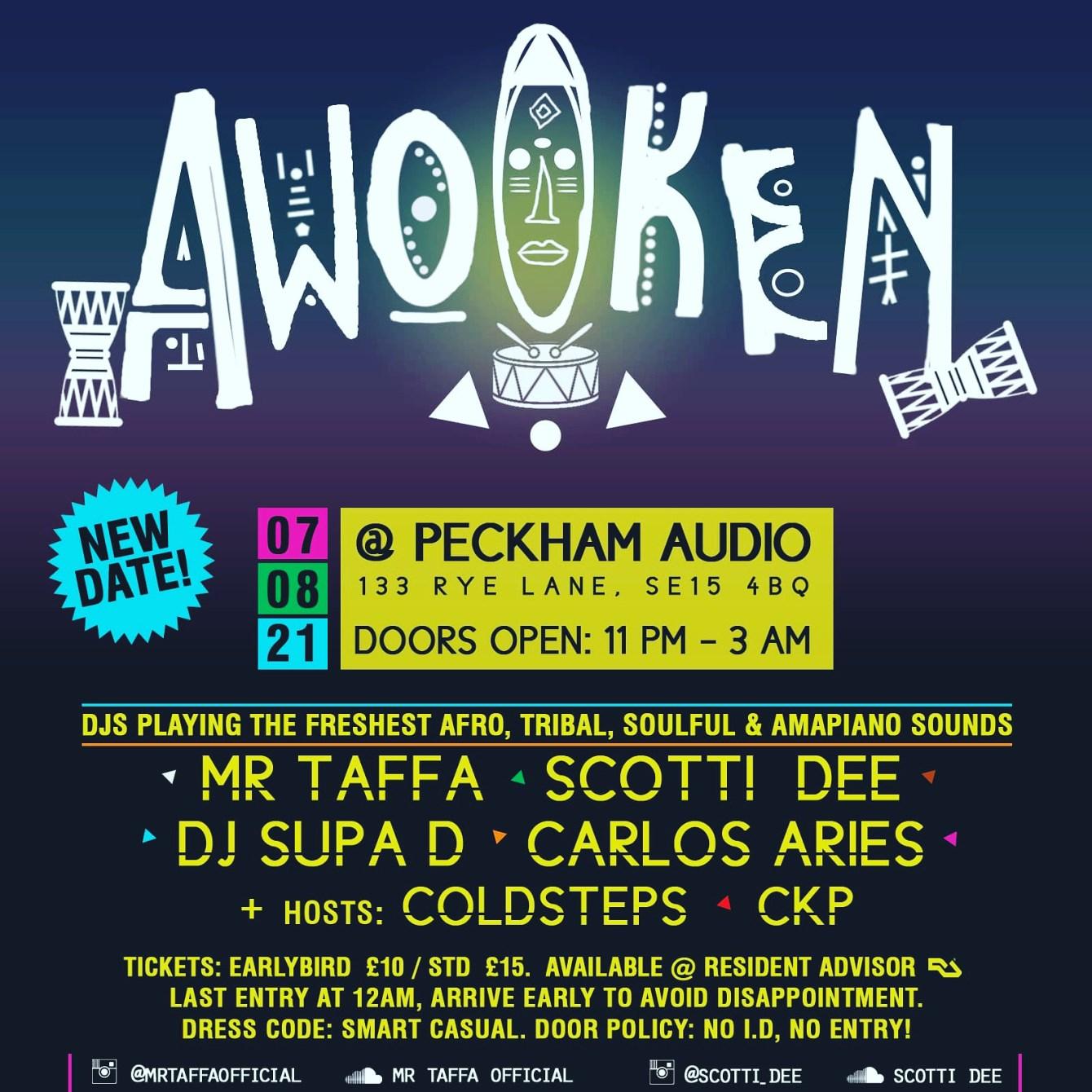 Awoken - Flyer front