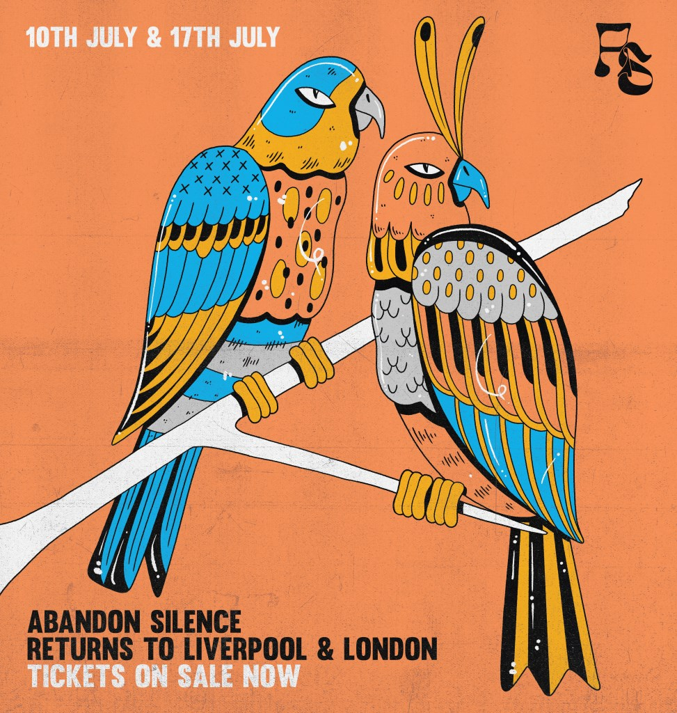 Abandon Silence Returns to London - Flyer front