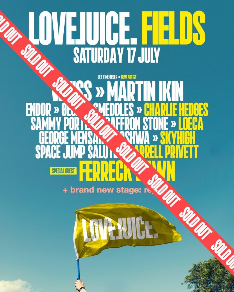 LoveJuice Fields Festival - Flyer front