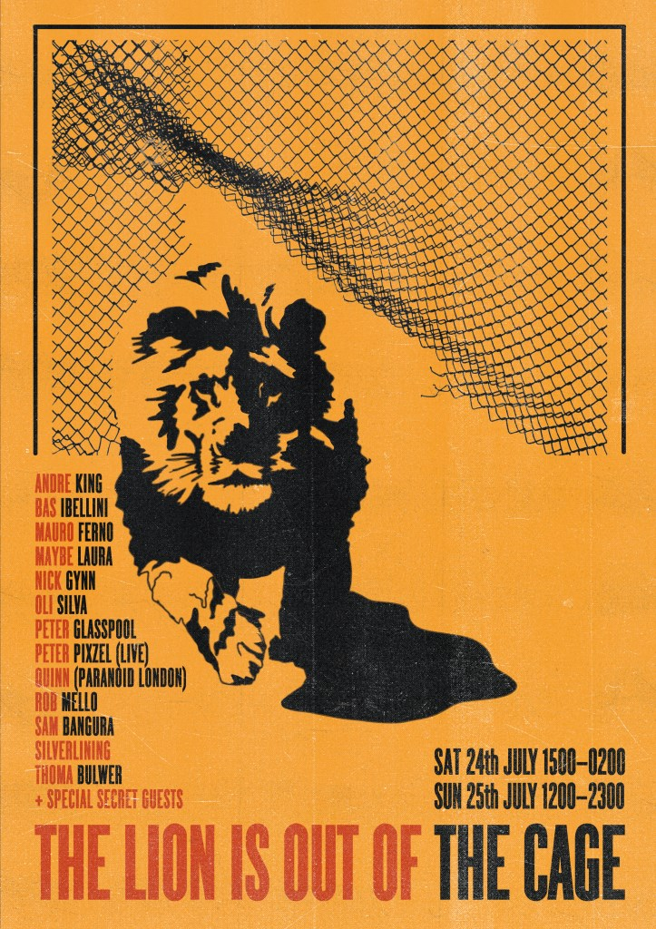 the Lion is out the Cage Part I & II - Flyer front