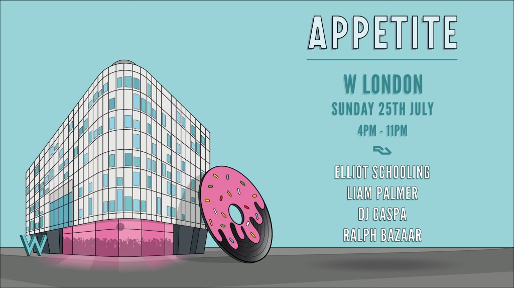 Appetite' Reopening Party - Flyer front