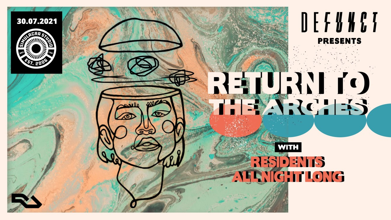 Defunct's Return to the Arches - Flyer front