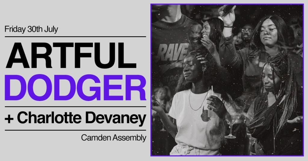 Garage Special with Artful Dodger + Charlotte Devaney - Flyer front
