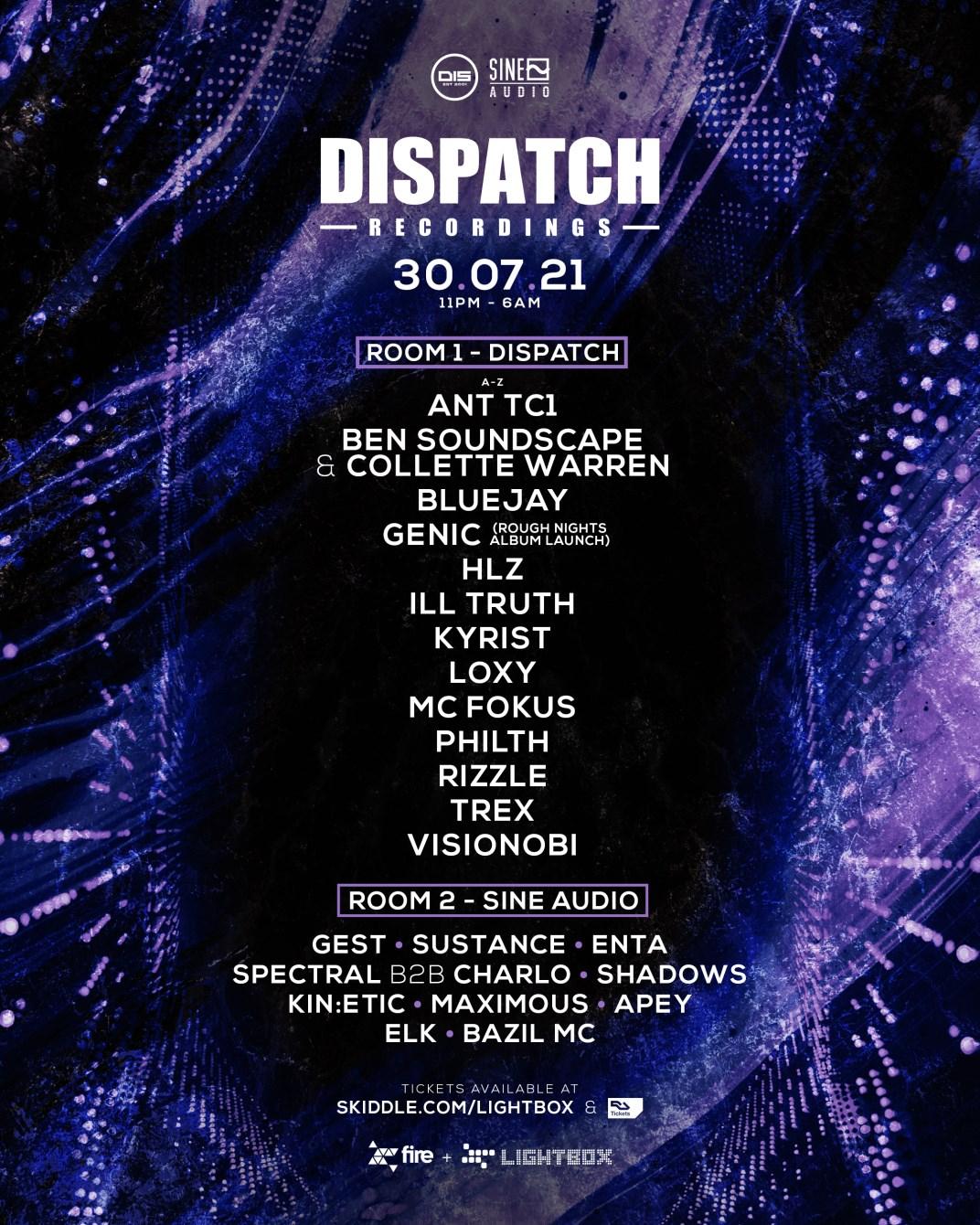 Dispatch Recordings London - Flyer front